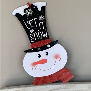 Snowman Holiday Christmas wall-door hanging 🎄🆕🎄